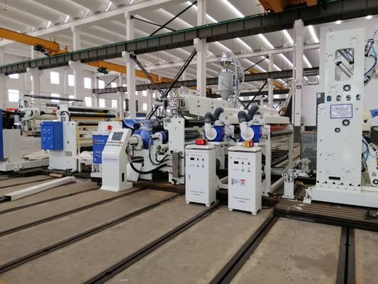Disesuaikan Laminating Paper Lamination Machine Coated Resin Seperti LDPE / LLDPE / PP / EVA